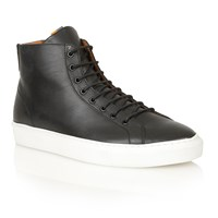 Frank Wright Logan Lace Up Casual Trainers Black