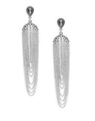 Design Lab Lord And Taylor Elegant Antique Drop Earrings Silver