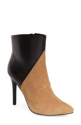 Women's Charles By Charles David 'Pine' Pointy Toe Bootie Nude Black Leather