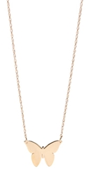 Jennifer Zeuner Jewelry Integrated Butterfly Necklace Yellow Gold