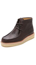 Clarks Leather Beckery Hike Boots Dark Brown