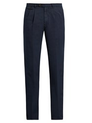 Brunello Cucinelli Leisure Fit Cotton Chino Trousers Navy