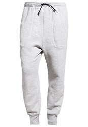 Adidas Performance New Baggy Tracksuit Bottoms Medium Grey Heather Mottled Grey