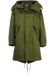 Givenchy Printed Parka Jacket Green