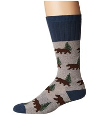 Socksmith Bear Light Gray Men's Crew Cut Socks Shoes