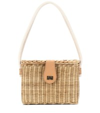 Kayu Mia Straw Shoulder Bag Neutrals