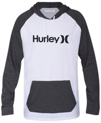 Hurley One And Only Colorblocked Raglan Hoodie White Htr