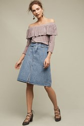 Anthropologie Charla Off The Shoulder Top Grey