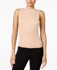 Bar Iii Sleeveless Mock Turtleneck Sweater Only At Macy's Vintage Bisque