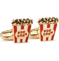 Paul Smith Popcorn Enamelled Gold Tone Cufflinks