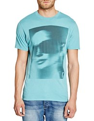Bench Hot Monochrome Graphic Tee Blue