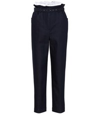 Isa Arfen Paperbag High Waisted Jeans Blue