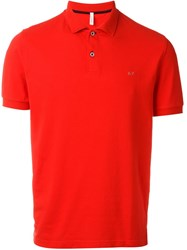 Sun 68 Classic '68 Solid' Polo Shirt Red