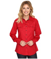 Cinch Cotton Stretch Poplin Red Women's Clothing