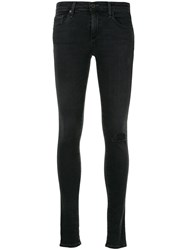 Ag Jeans Distressed Skinny Fit Black