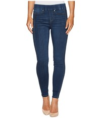 Liverpool Sophia Pull On Ankle With Seaming Detail In Silky Soft Stretch Denim In Helms Dark Helms Dark Women's Jeans Blue