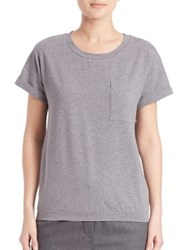 Peserico Embellished Pocket T Shirt Grey