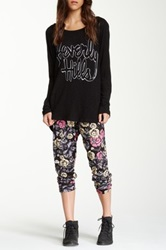 Lauren Moshi Mimi Ruched Skull And Flower Pant Multi