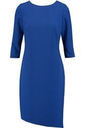 Halston Heritage Gathered Crepe Dress Royal Blue