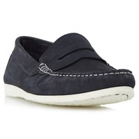 Dune Breeze Penny Loafers Navy