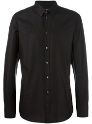 Dolce And Gabbana Diamond Patterned Shirt Black