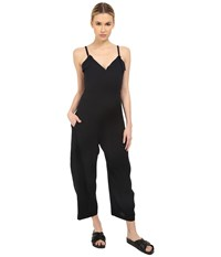 Y's By Yohji Yamamoto Strap Overall Jumpsuit Black Women's Jumpsuit And Rompers One Piece
