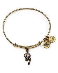 Alex And Ani Snake Expandable Wire Bangle Gold