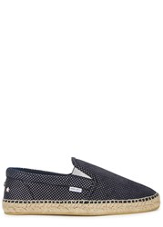 Jimmy Choo Vlad Navy Polka Dot Leather Espadrilles