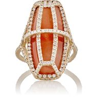Monique Pean Women's Arch Cage Ring Colorless