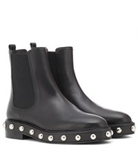Red Valentino Embellished Leather Chelsea Boots Black