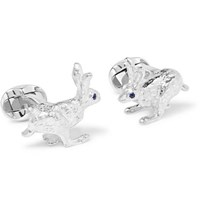 Deakin And Francis Sterling Silver Sapphire Cufflinks