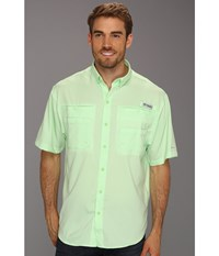 Columbia Tamiami Ii S S Key West Men's Short Sleeve Button Up Blue