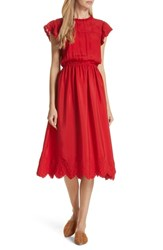 The Great Great. Moonlight Embroidered Silk Dress Valentine