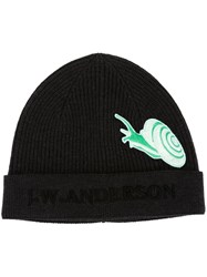 J.W.Anderson J.W. Anderson Snail Embroidered Logo Beanie Grey