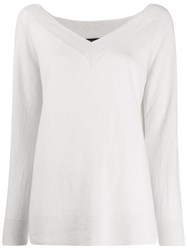 Antonelli Relaxed Fit V Neck Pullover Neutrals