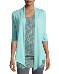 Soybu Meryl Jersey Knit Wrap Cardigan Gray