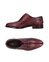 Fabi Lace Up Shoes Maroon