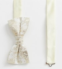 Noose And Monkey Wedding Bow Tie In Satin Gold