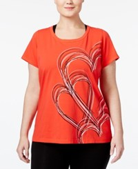 Ideology Plus Size Go Red For Women Graphic T Shirt Only At Macy's Hot Chili
