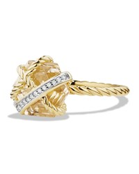 David Yurman 10Mm Petite Cable Wrap Champagne Citrine Ring Gold