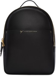 Giuseppe Zanotti Black Leather Backpack