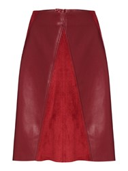 Biba Pu And Suedette A Line Skirt Claret