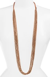 Women's Chan Luu Solid Seed Bead Strand Necklace Pale Gold