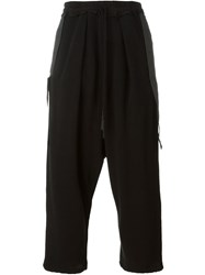 Lost And Found Cropped Track Pants Black