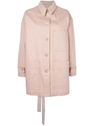 Maison Martin Margiela Mm6 Patch Pocket Coat Pink Purple