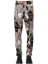 Palm Angels All Over Print Tech Track Pants W Zip Multicolor