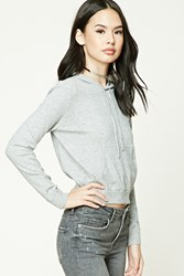 Forever 21 Ribbed Knit Hoodie