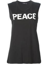 Blk Dnm Peace Print Top