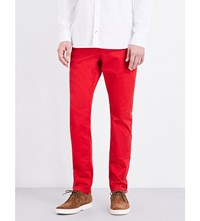 Tommy Hilfiger Straight Fit Mid Rise Twill Chinos Apple Red