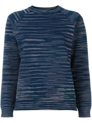 M Missoni Crew Neck Jumper Blue